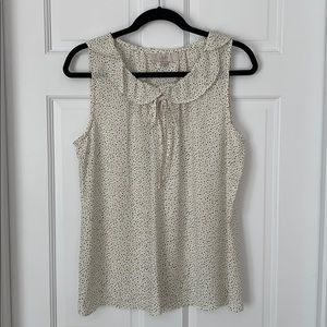NWT Loft Black and White Dotted Sleeveless Blouse